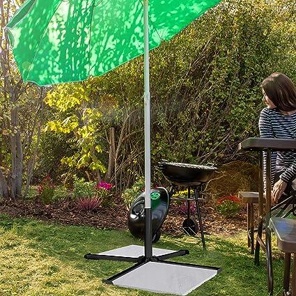 Nero Pieghevole Supporto a Croce Relaxdays Base per Ombrellone Metallo Giardino /& Balcone per Aste da 25-35 mm