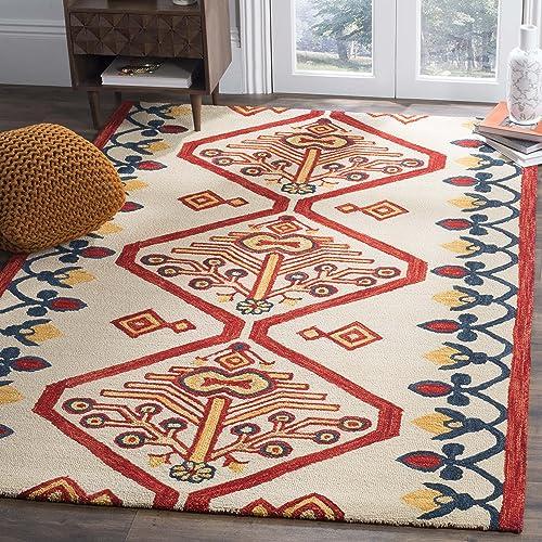 Safavieh Aspen Collection APN703A Handmade Wool Area Rug, 8 x 10 , Ivory Multi