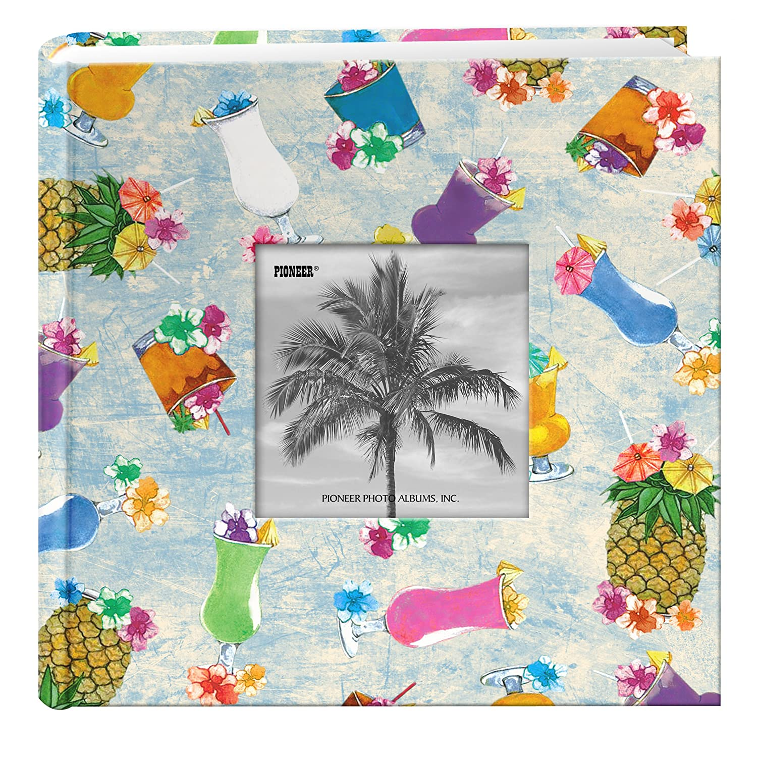 Pioneer Photo Albums 200-Pocket Hibiscus Design Fabric Frame Cover Photo Album for 4 by 6-Inch Prints DA-200TRP/H