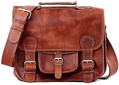 3a0be57d4d LE CARTABLE (M) cuir couleur naturel sac bandoulière format (A4) PAUL  MARIUS: Amazon.fr: Bagages