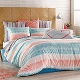 Hang Ten Tie Die Reversible Comforter Set, Aqua, Full Queen