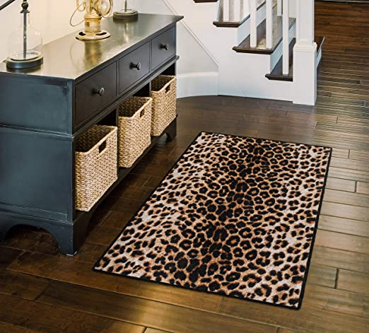 Amazon Com Brumlow Mills Animal Print Area Rug For Living Room Dining Room Kitchen Bedroom And Contemporary Home Dãcor 2 6 X 3 10 Leopard Ew10210 30x46 Furniture Decor