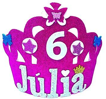 Handylandia Corona Cumpleanos Con Nombre Goma Eva Modelo Luna