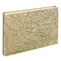 Hama 2 in 1 Gästebuch und Fotoalbum Caracas (30x20 cm, 60 Seiten) gold