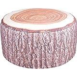 Amazon Com Cushioned Tree Bark Log Seat Home Amp Kitchen