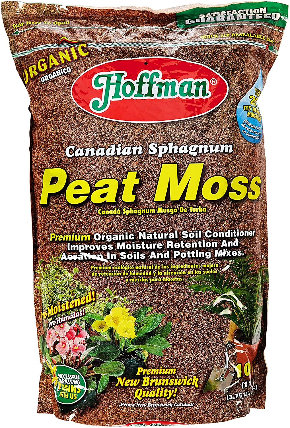 Hoffman 15503 Canadian Sphagnum Peat Moss, 10 Quarts : Soil And Soil Amendments : Garden & Outdoor