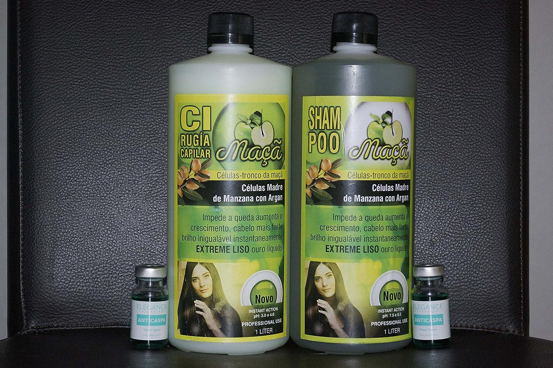 Amazon.com: Cirugia Capilar Celulas Madres Sistema De Alisado Madres profesional Sin Formol + 2 ampollas: Health & Personal Care