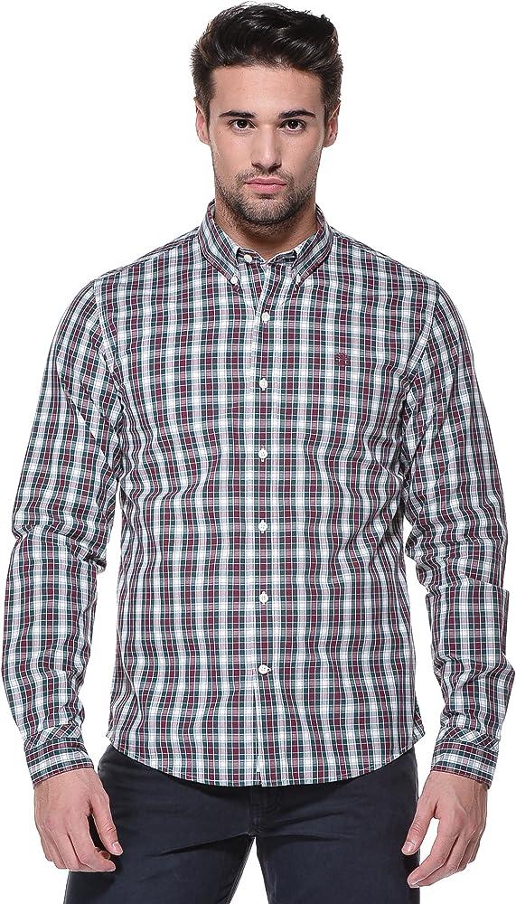 Timberland - Camisa casual - con botones - Manga Larga - para hombre azul June Bug (341) Large: Amazon.es: Ropa y accesorios