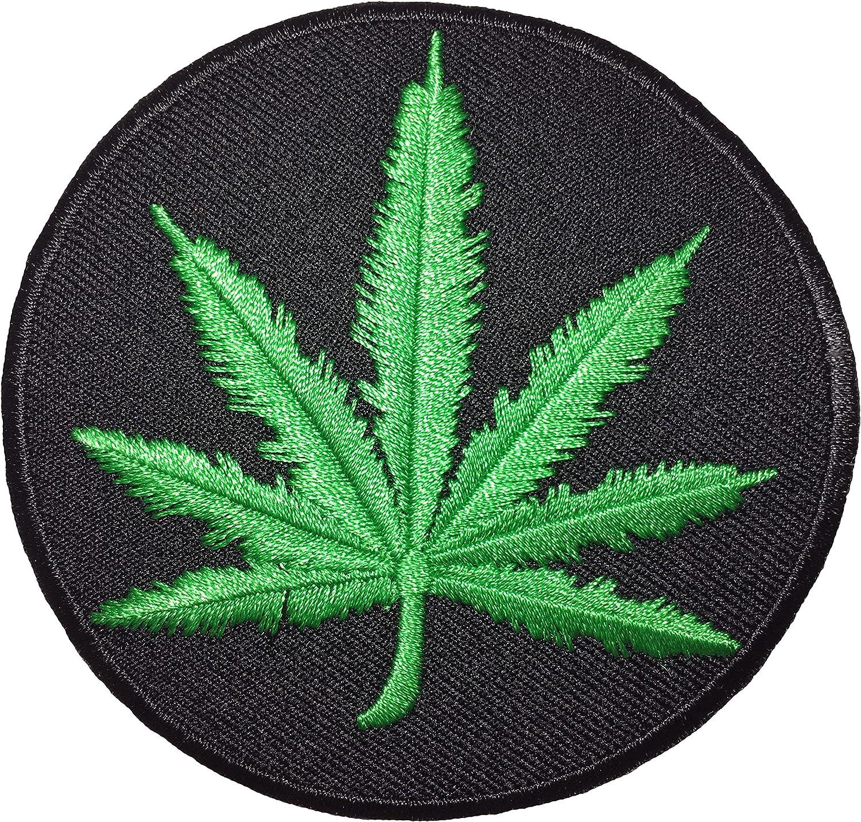 Cannabis Marijuana Hemp Weed Leaf Embroidered Iron on Patch Free Shipping