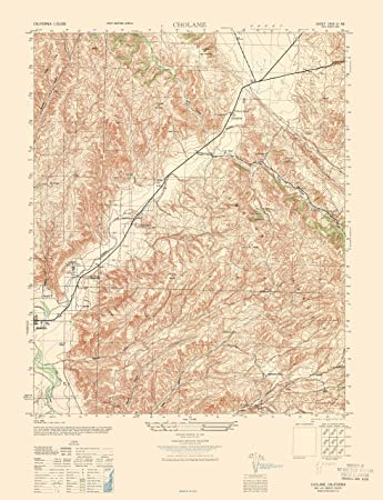 Amazon.com: Topographic Map   Cholame California Sheet   Army 1943