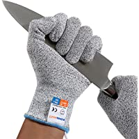 KingKut Cut Resistant Gloves, Kitchen Cutting Gloves, Professional Cut Gloves for Oyster Shucking, Wood Carving, Butchering, Whittling, Meat Cutting, Unique Transverse Knitting Tech, 1 Pair (Medium)