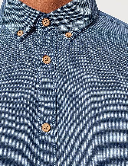Springfield Camisa Estructura Hombre: Amazon.es: Ropa y ...