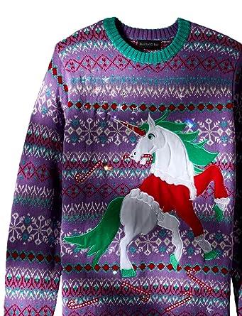76783d7a5f1 Amazon.com  Blizzard Bay Men s Santa Suit Unicorn Ugly Christmas ...