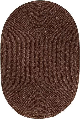 Solid Wool Rug, 3 by 5-feet, Walnut