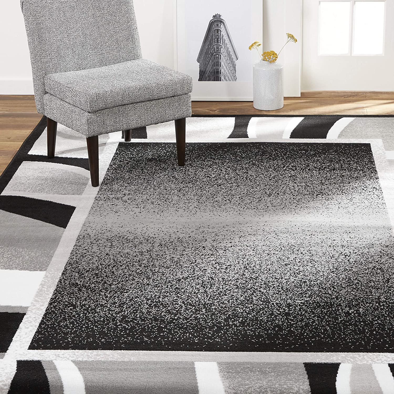 Home Dynamix Lyndhurst Rotana Modern Area Rug, Contemporary Black/Gray 21