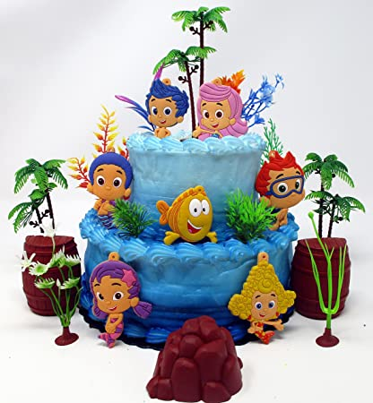 Admirable Amazon Com Bubble Guppies Birthday Cake Topper Set Featuring Gil Birthday Cards Printable Trancafe Filternl