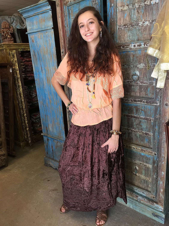Boho Chic Designs - Falda - trapecio - para mujer Rosa rosa 58: Amazon.es: Ropa y accesorios