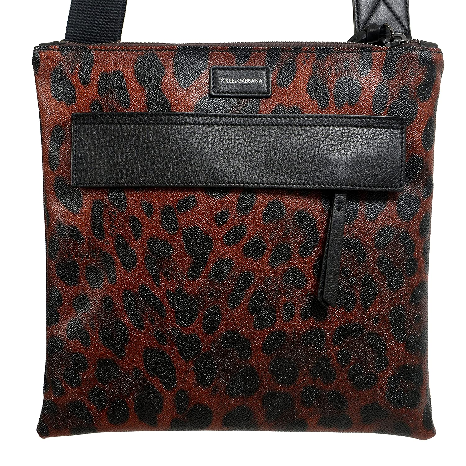 c72f060926 Amazon.com  Dolce   Gabbana Leopard Print Leather Adjustable Strap Men s  Crossbody Bag  Shoes