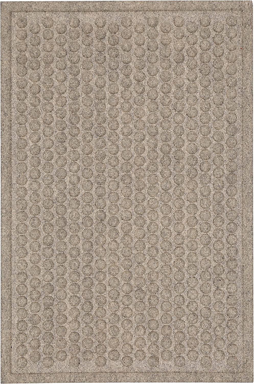 "Mohawk Home Home Dots Impressions Chestnut Durable Door Mat, 1'6""x2'6"", Tan"