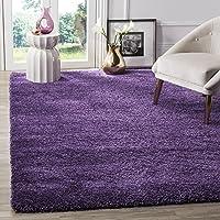Safavieh Milan Shag Collection SG180-7373 3' x 5' Area Rug (Purple)