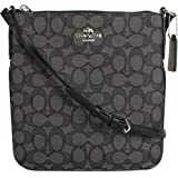 Coach Outline Signature North/South Crossbody in Black Smoke/Black F58421