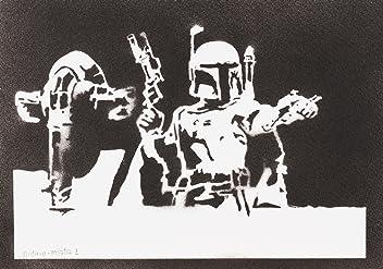 Boba Fett Slave I STAR WARS Poster Handmade Graffiti Street Art - Artwork