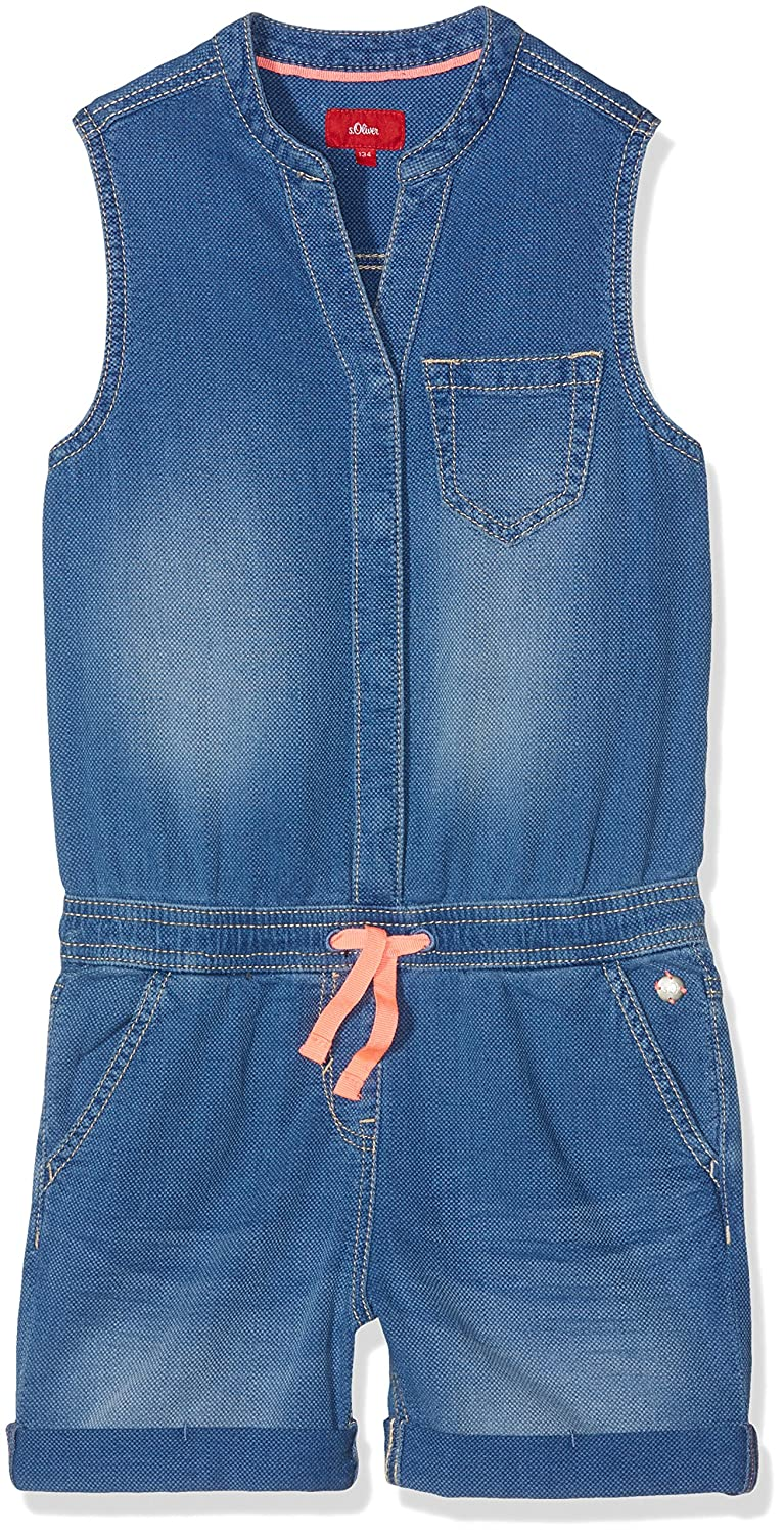 the latest 6a267 845b1 s.Oliver Girl's Overall Dungarees, Blau (Blue Denim Non ...