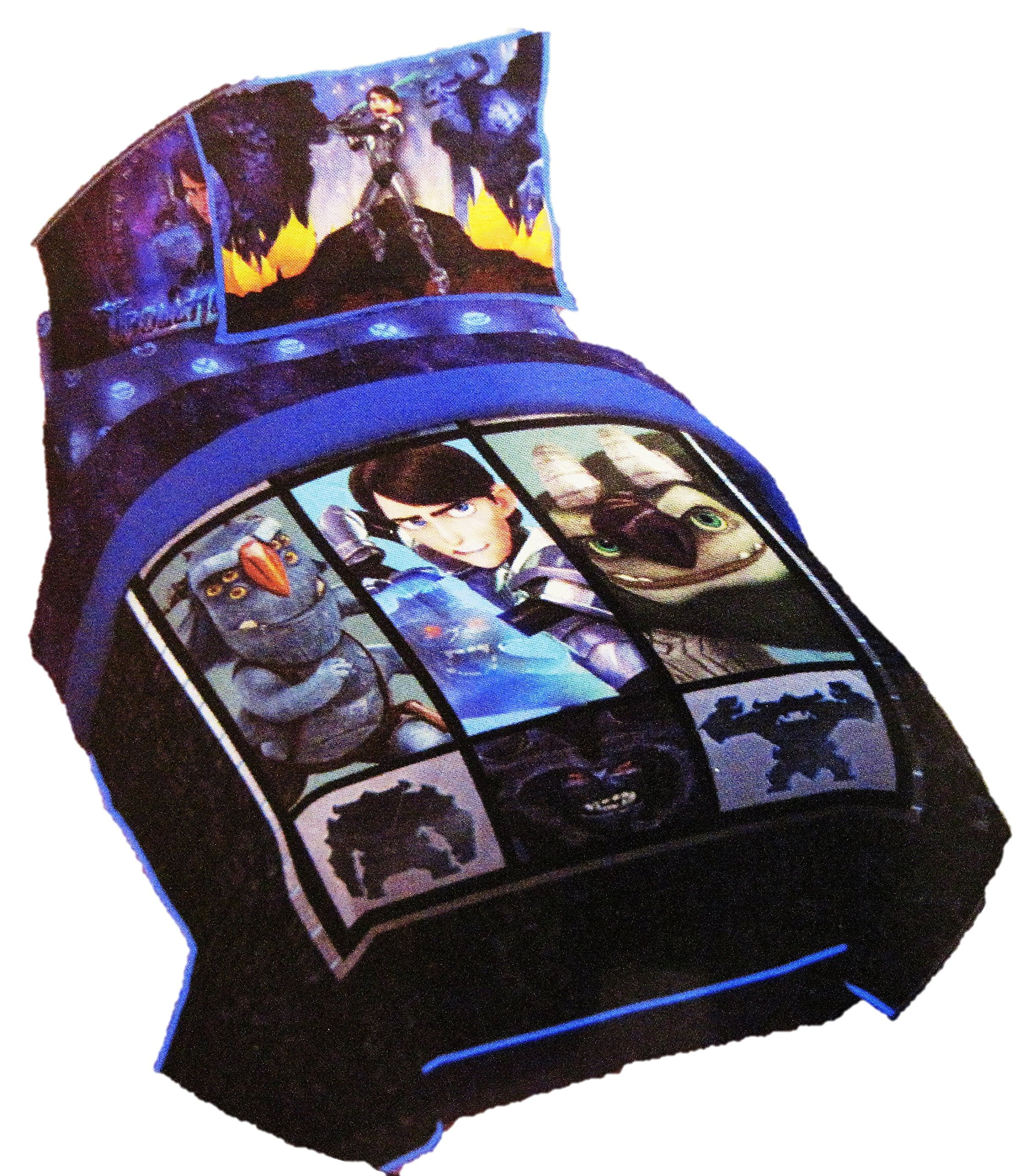 Dreamworks Trollhunters Tales of Arcadia Twin/Full Quilt and Sham and 3 Piece Sheet Set