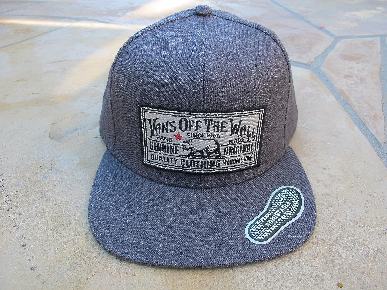 07b62eb7813 Vans Off The Wall Men s Stevedore Snapback Hat Cap - Charcoal  Amazon.ca   Clothing   Accessories