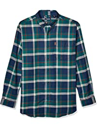 CHAPS Mens Big and Tall Long Sleeve Performance Flannel Shirt Button Down Shirt