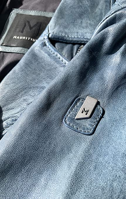 Mauritius Sofistar Blue 100/% Fashion Genuine Lambskin Leather Jacket For Women