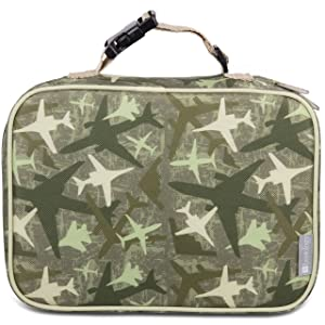 """Insulated Durable Lunch Box Sleeve - Reusable Lunch Bag - Securely Cover Your Bento Box, Works with Bentology Bento Box, Bentgo, Kinsho, Yumbox (8""""x10""""x3"""") - Jet"""