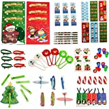 Neliblu Christmas Toys Party Favors Mega Assorted Stocking Stuffers, Holiday Toys and Activities, Christmas Coloring Books, Tattoos, Jingle Bell Bracelets and More 72 Mega Christmas Toy Assortment