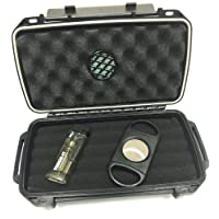 Sigara Private Collection Cigar Travel Humidor Cutter Single Torch Cigar Gift Set