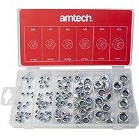 Am-Tech 100 piezas Surtido de tuercas de bloqueo