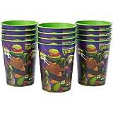Nickelodeon Teenage Mutant Ninja Turtles Plastic Cups Party, Stadium Cup, 12-Count