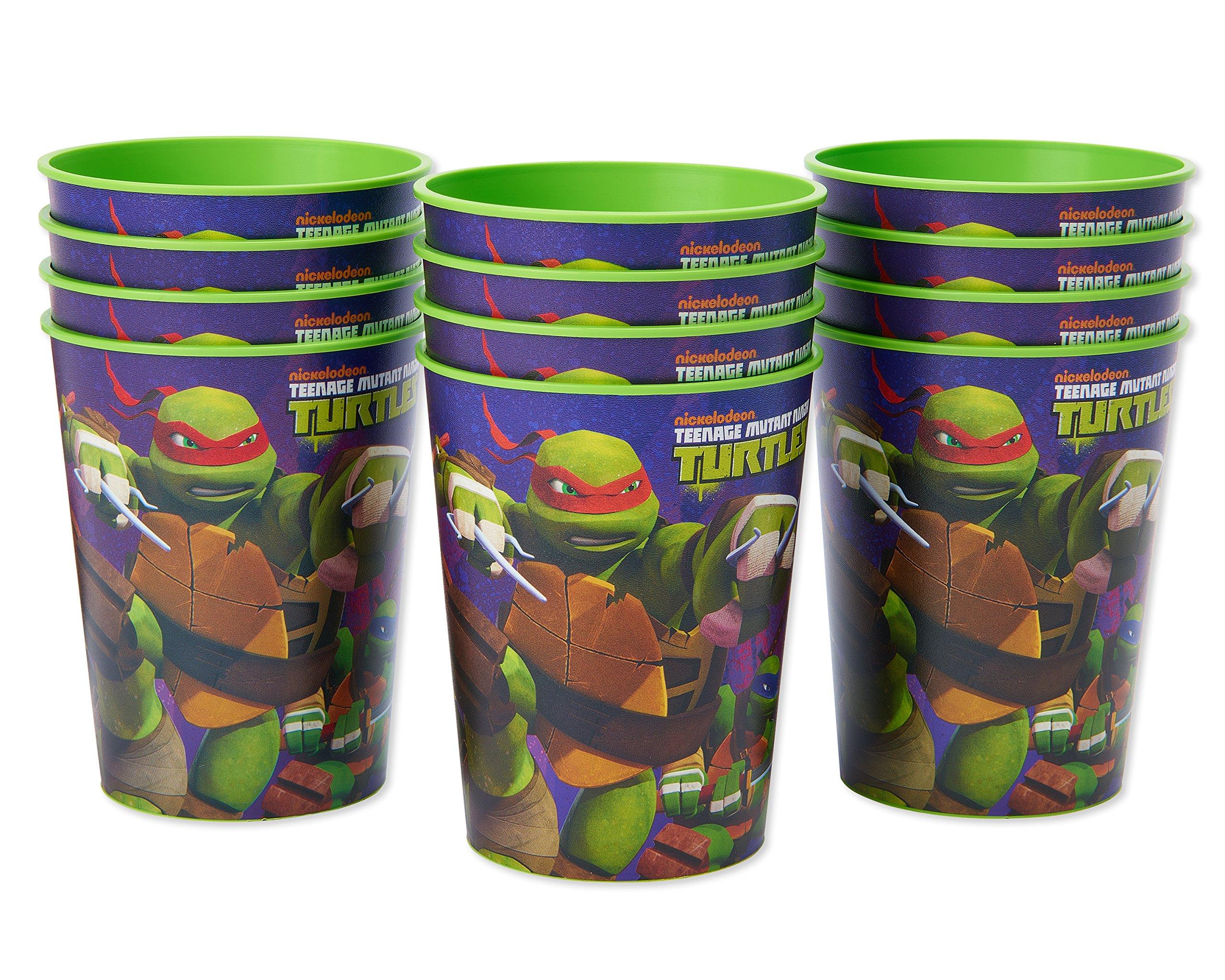 American Greetings Teenage Mutant Ninja Turtles (TMNT) Plastic Cups for Kids (12-Count)