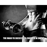 Workout Poster Motivational Art Print Weight Lifting Gym Athletic Shorts Pants Socks 11x14