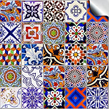 Stück 10cm Verschiedene Mosaic Wandfliese Aufkleber Für 100mm Quadratische  Fliesen (24x TP 59   4u0026quot