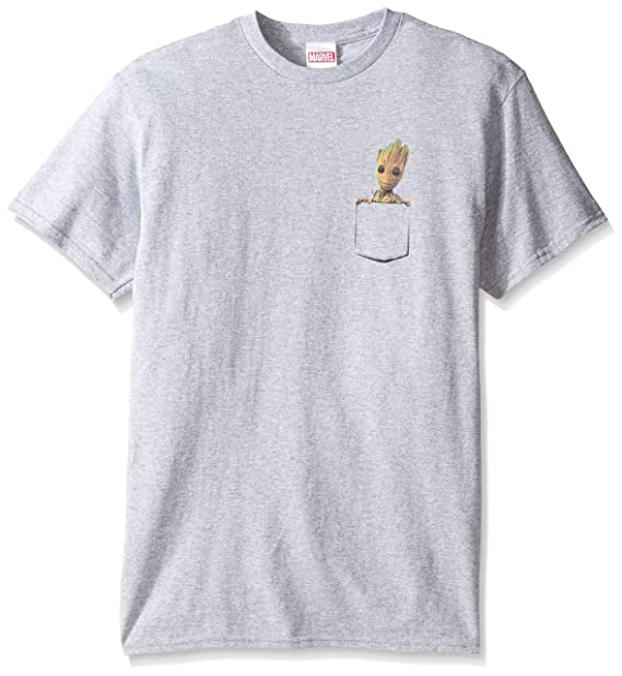 6568356a Marvel Mens Pocket Groot T-Shirt T-Shirt: Amazon.ca: Clothing & Accessories