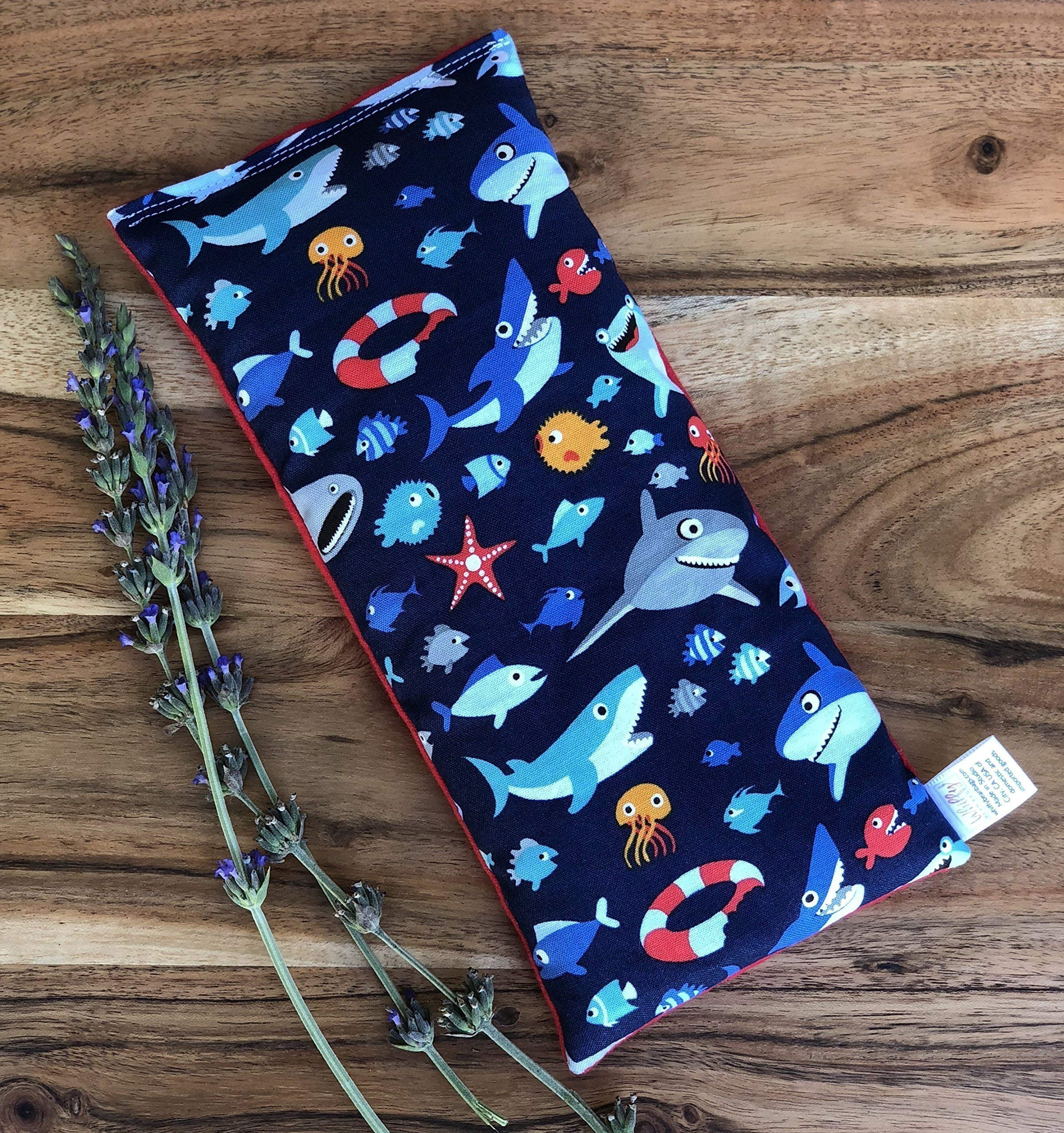 Microwave Heating Pad Lavender Eye Pillow Shark Gift