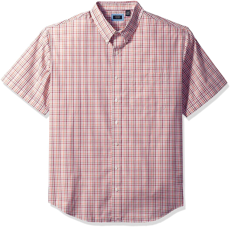 Arrow Men's Big and Tall Short Sleeve Hamilton Poplin Shirt at Amazon Men's  Clothing store: