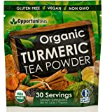 Organic Turmeric Tea Powder - Matcha Green Tea, Turmeric, Cinnamon, Ginger, Black Pepper - Natural Joint Support Supplement For Juice, Smoothie & Drinks - Vegan, Non-GMO & Gluten Free - 30 Servings