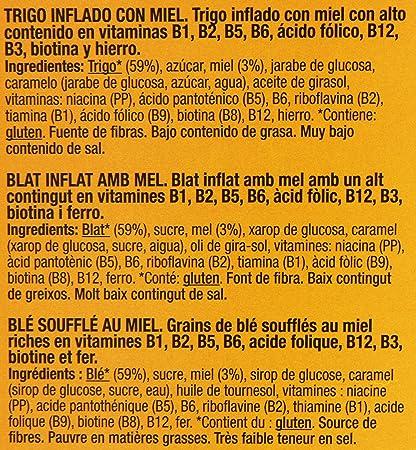 Gourmet Trigo Inflado con Miel con 8 Vitaminas y Hierro - 500 g: Amazon.es: Amazon Pantry