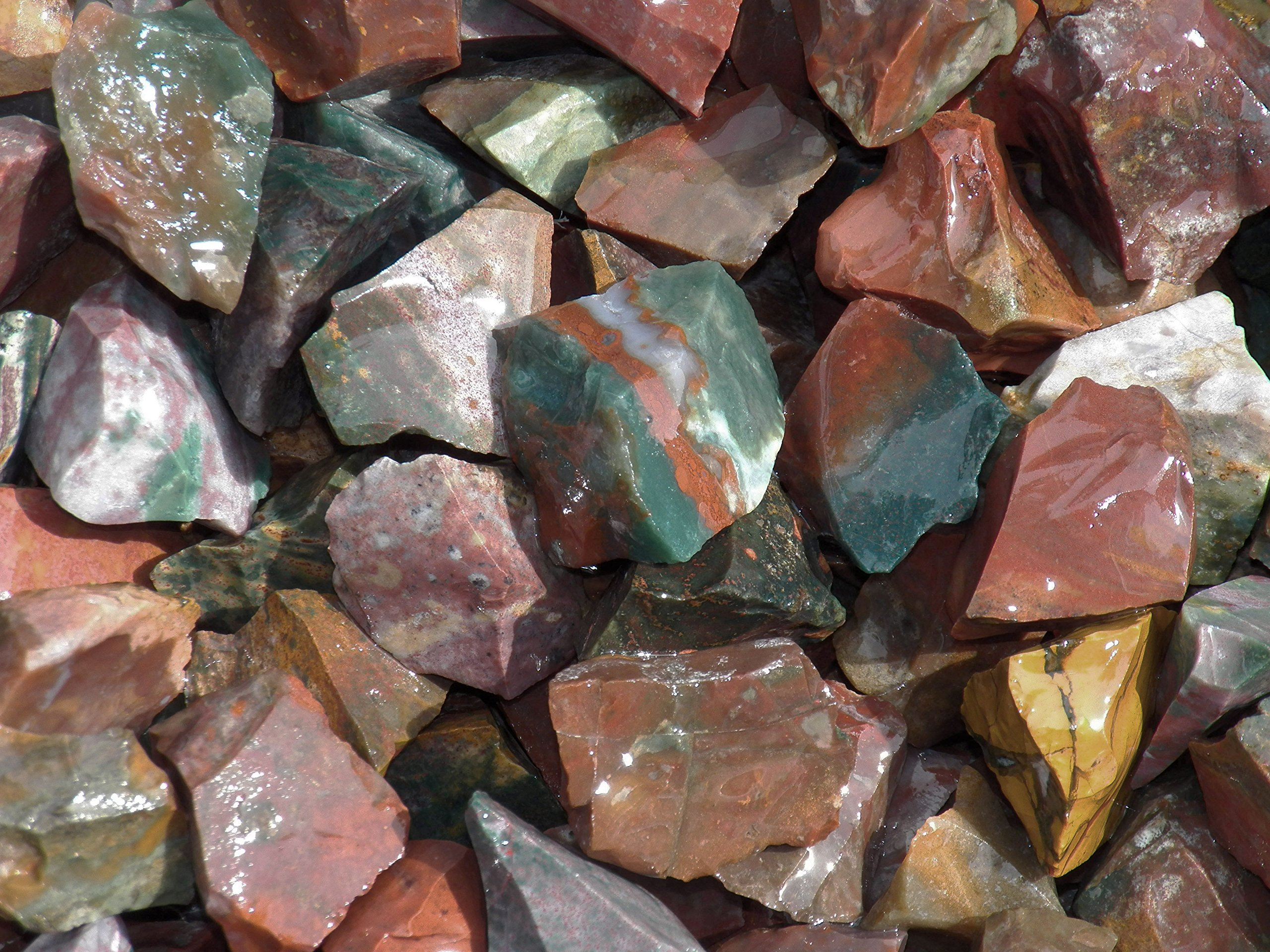 Fundamental Rockhound Products: Rough FANCY JASPER Natural Bulk Rock for Tumbling, Metaphysical Use, Gemstones Healing Crystals * Wholesale Lot * ... from India (2 lb)