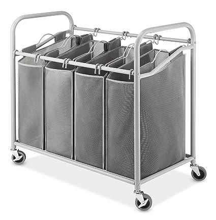 Large Laundry Sorter Classy Amazon Whitmor 60Section Laundry Sorter CartHeavy Duty