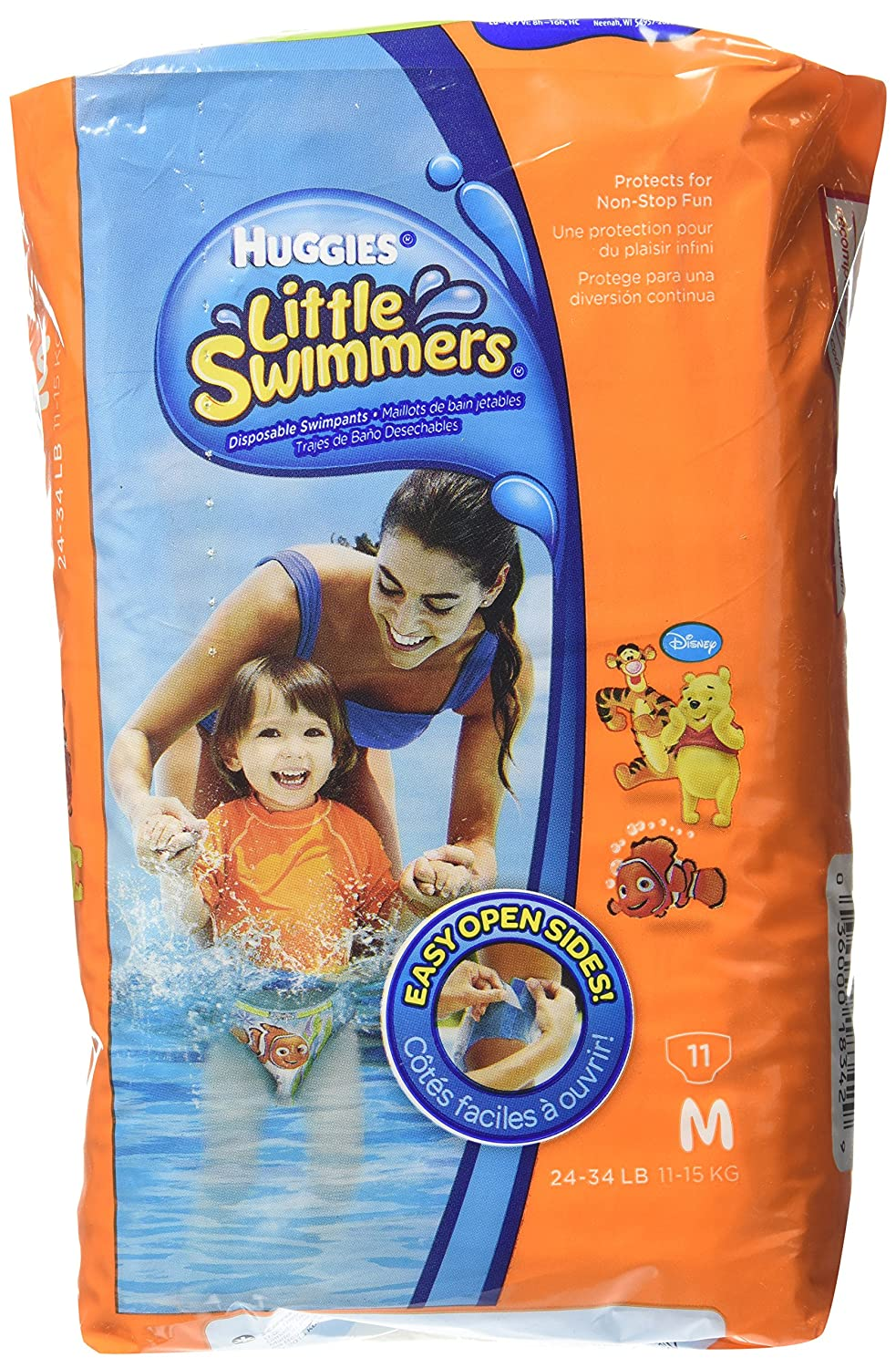 Huggies Little Swimmers - Pañal (Disposable, Multi), Talla M, 11pieza(s)