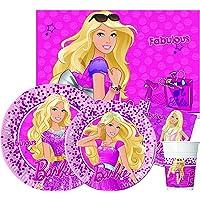 Ciao- Barbie Kit Mesa Fiesta, Color rosa, 8 personas (Y6176)