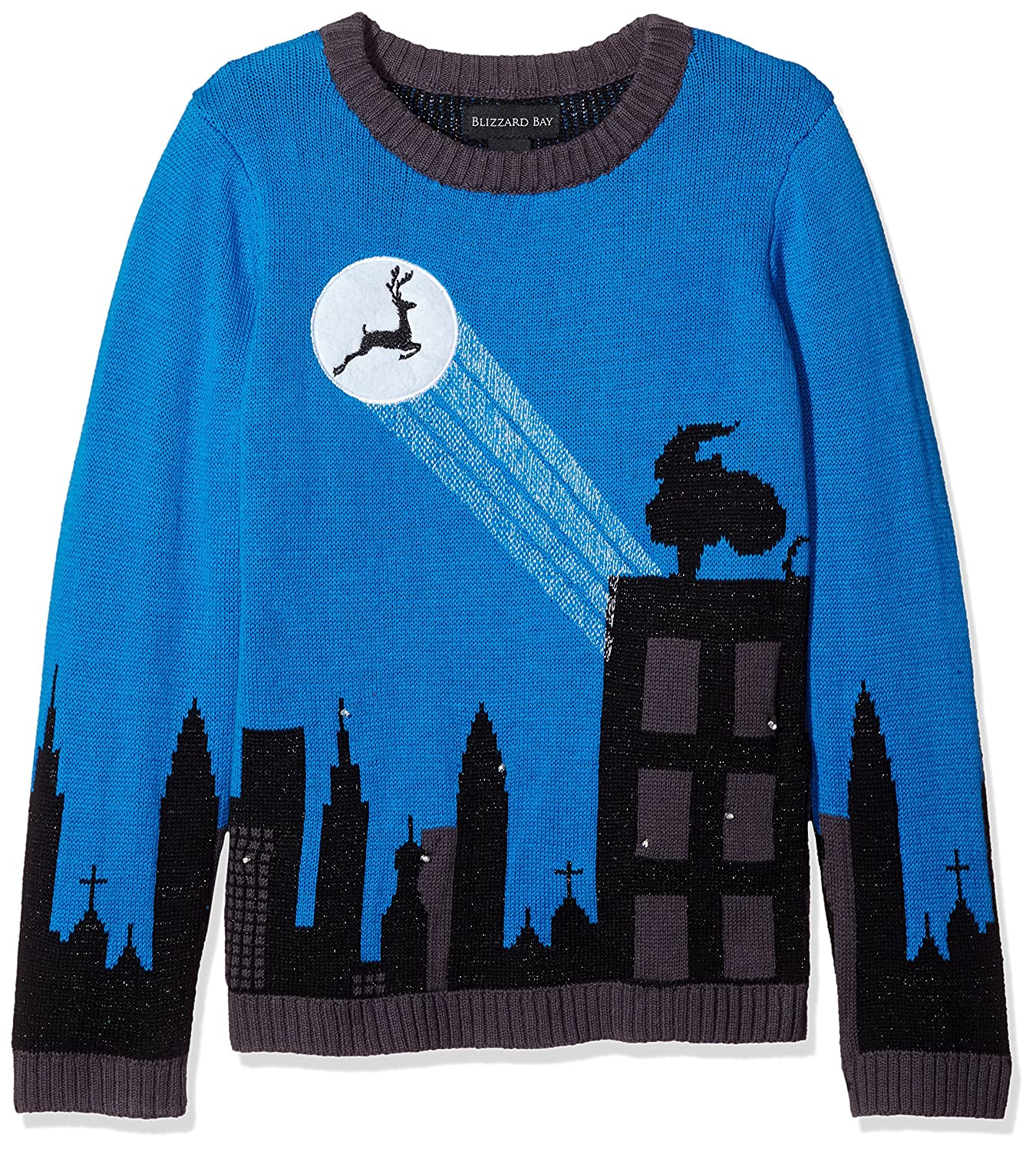 Blizzard Bay Boys' Big Cityscape Light-up Reindeer Sweater Blizzard Bay Boys 8-20 27493