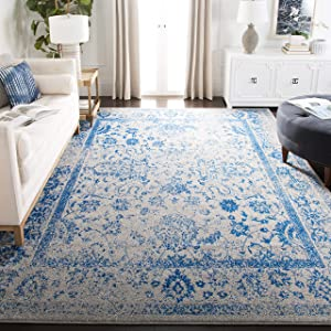 Safavieh Adirondack Collection Grey and Blue Oriental Vintage Distressed Area Rug (8' x 10')